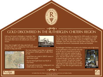 Gold at Rutherglen, - View the larger PDF version
