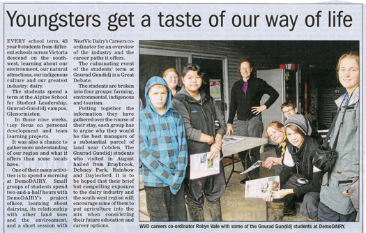 Demo Dairy Newspaper Article