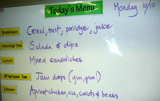 Today's Menu